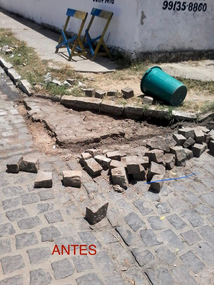 Capina e reparação parcial de pavimento das ruas - Prefeitura de Baia Formosa