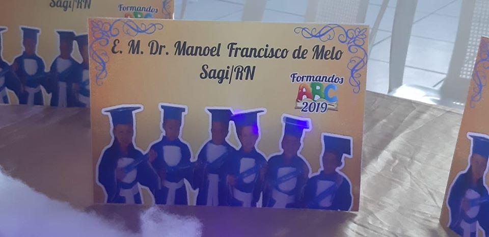 Formatura do ABC da Escola Municipal Doutor Manoel Francisco de Melo - Prefeitura de Baia Formosa